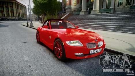 BMW Z4 Roadster 2007 i3.0 Final para GTA 4 vista interior