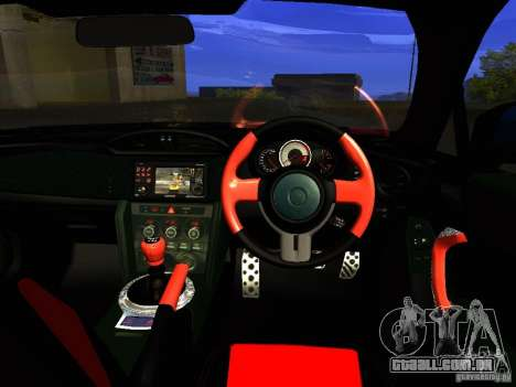 Toyota GT86 Limited para GTA San Andreas vista inferior