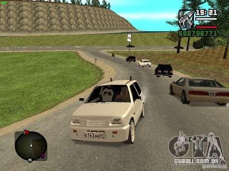 OKA VAZ 11113 para GTA San Andreas traseira esquerda vista