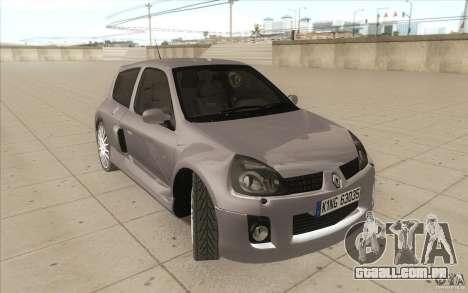 Renault Clio V6 para vista lateral GTA San Andreas