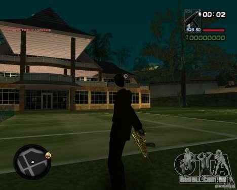 Tec 9 GOLD para GTA San Andreas segunda tela