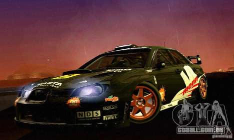 Subaru Impreza WRC 2007 para GTA San Andreas esquerda vista