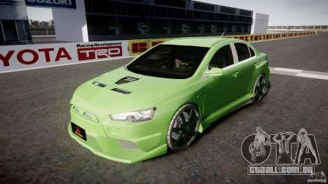 Mitsubishi Lancer Evolution X Tuning para GTA 4 vista lateral