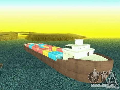 Drivable Cargoship para GTA San Andreas por diante tela