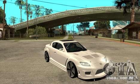 Mazda RX-8 v2 para GTA San Andreas vista traseira