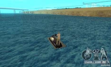 Scooter de água para GTA San Andreas traseira esquerda vista