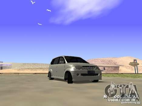 Toyota Avanza Street Edition para GTA San Andreas