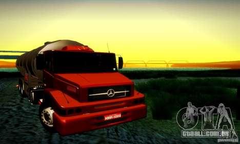 Mercedes-Benz L1620 Tanque para GTA San Andreas vista traseira