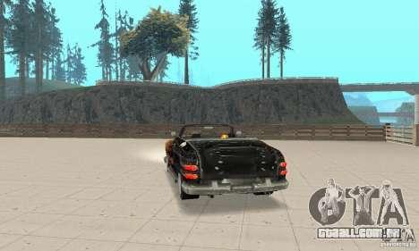 Flat Out Style para GTA San Andreas esquerda vista
