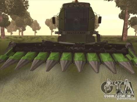 Deutz Harvester para GTA San Andreas esquerda vista
