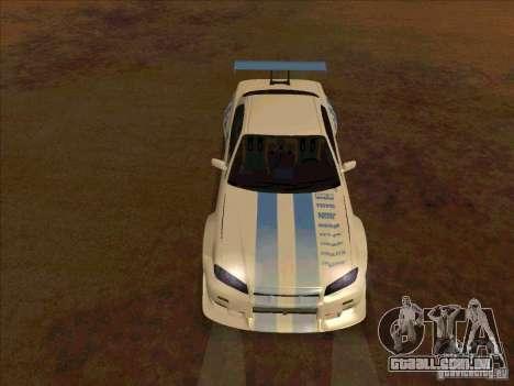 Nissan Skyline GT-R R34 2 Fast 2 Furious para GTA San Andreas vista traseira