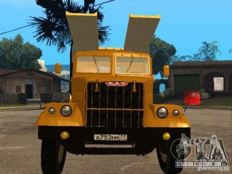 Transportador de auto KrAZ 255 para GTA San Andreas esquerda vista