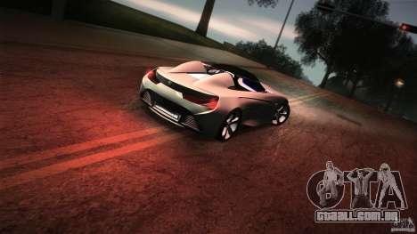 BMW Vision Connected Drive Concept para GTA San Andreas vista inferior
