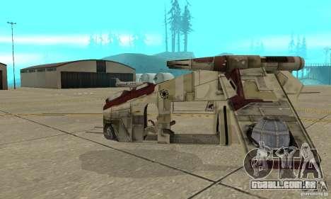 República Gunship de Star Wars para GTA San Andreas esquerda vista
