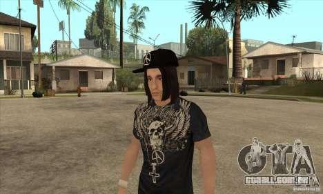 Criss Angel Skin para GTA San Andreas segunda tela