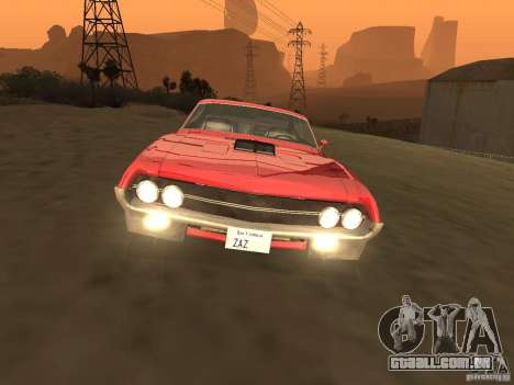 Ford Torino Cobra 1970 Tunable para GTA San Andreas vista interior