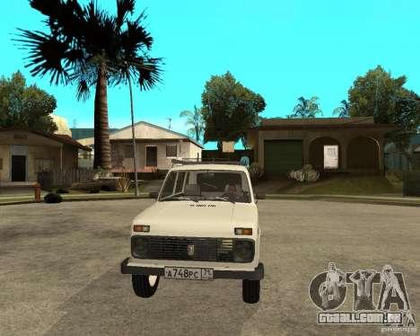 Niva Vaz 2131 para GTA San Andreas vista traseira
