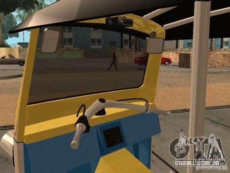 Tuk Tuk Thailand para GTA San Andreas vista traseira