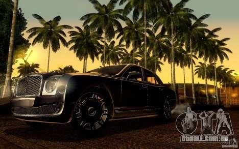 Bentley Mulsanne 2010 v1.0 para GTA San Andreas vista inferior