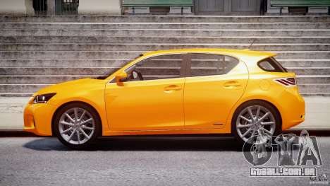 Lexus CT200h 2011 para GTA 4 esquerda vista