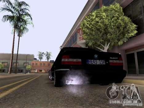 BMW E34 540i para GTA San Andreas esquerda vista