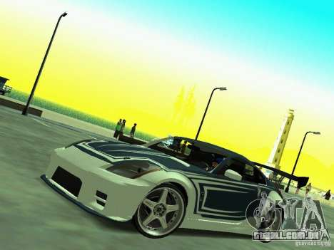 Nissan 350z Tea Hair para GTA San Andreas vista direita
