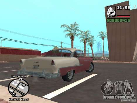 1955 Chevy Belair Sports Coupe para GTA San Andreas esquerda vista