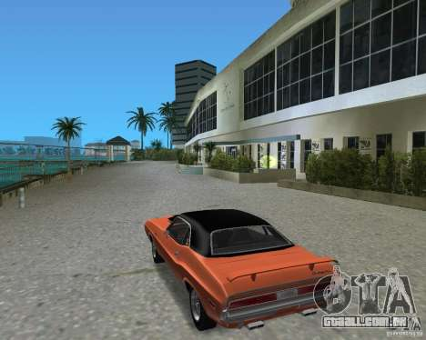 1970 Dodge Challenger R/T Hemi para GTA Vice City vista direita