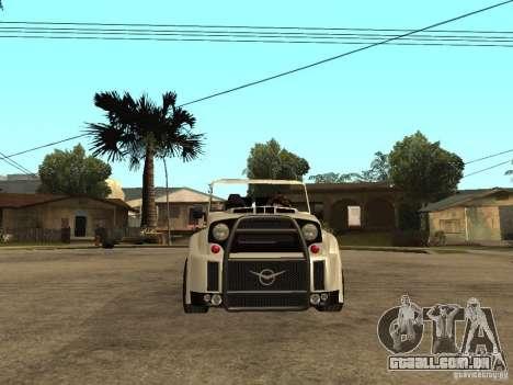 Uaz Cabriolet para GTA San Andreas vista direita