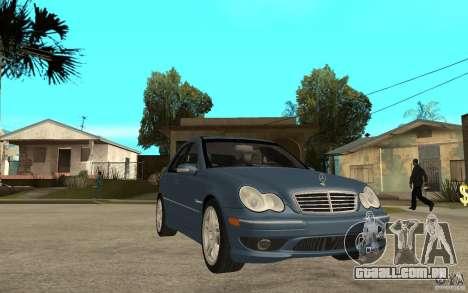 Mercedes-Benz C32 AMG 2003 para GTA San Andreas vista traseira