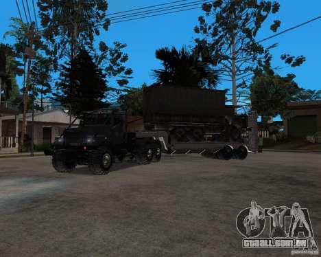 KrAZ 255 + reboque artict2 para GTA San Andreas esquerda vista