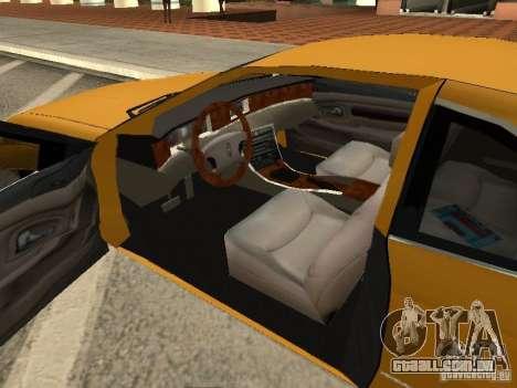 Lincoln Mark VIII 1996 para GTA San Andreas traseira esquerda vista