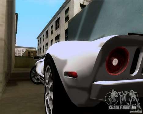 Ford GT para GTA San Andreas vista superior