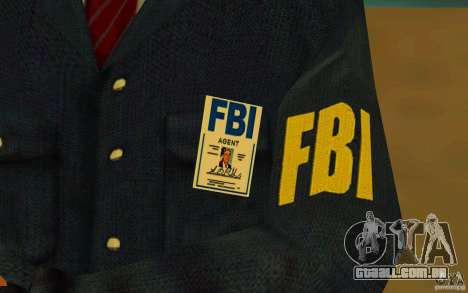 HQ skin FBI para GTA San Andreas quinto tela