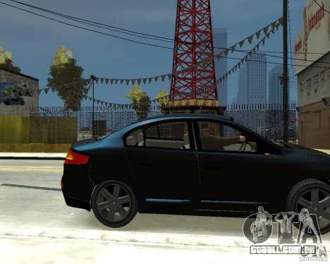 Renault Fluence para GTA 4 vista direita