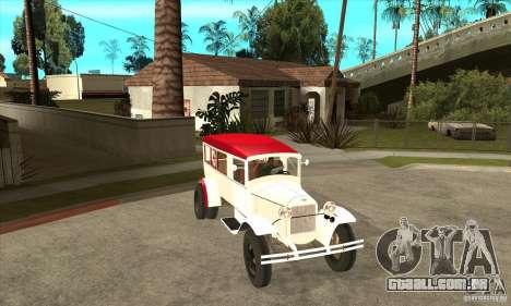 Ambulância de GAZ AA para GTA San Andreas vista traseira