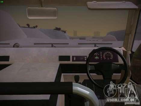Toyota Mega Cruiser para GTA San Andreas vista direita