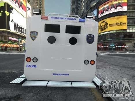 Lenco Bearcat NYPD ESU V.2 para GTA 4 traseira esquerda vista