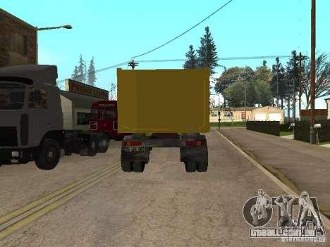 BMC para GTA San Andreas traseira esquerda vista