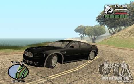 Dodge Charger SRT8 para GTA San Andreas vista interior