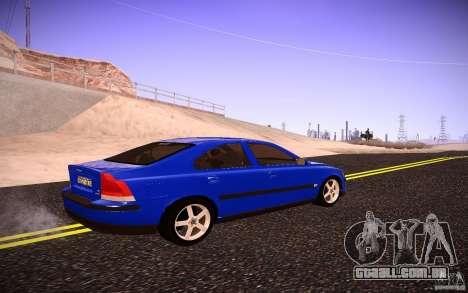 Volvo S 60R para GTA San Andreas traseira esquerda vista