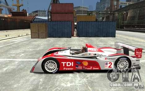 Audi R10 TDI para GTA 4 esquerda vista