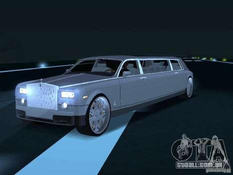 Motorista de limusine de Rolls-Royce Phantom 200 para GTA San Andreas vista direita