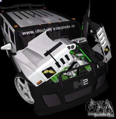 AMG Hummer H2 Hard Tuning v2 para GTA Vice City vista traseira esquerda