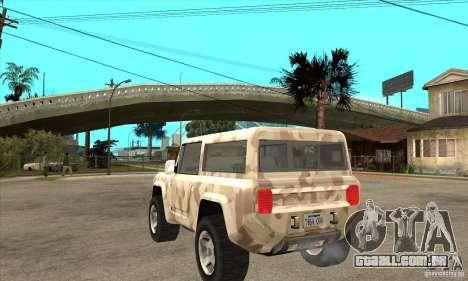 Ford Bronco Concept para GTA San Andreas traseira esquerda vista