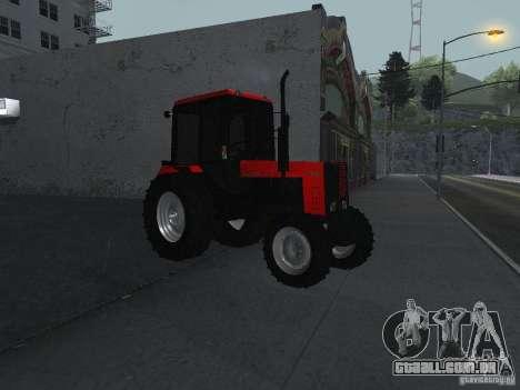 Trator MTF 1025 para GTA San Andreas vista direita