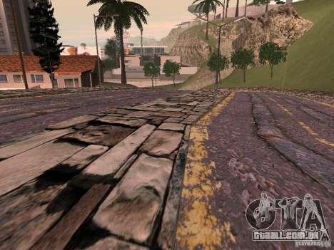 Novas estradas em Vajnvude para GTA San Andreas por diante tela