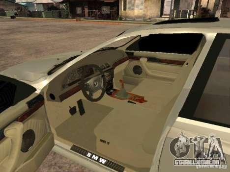 BMW 540i para GTA San Andreas traseira esquerda vista