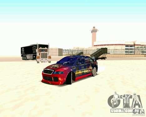 Skoda Octavia III Tuning para GTA San Andreas traseira esquerda vista