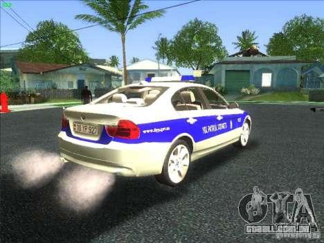 BMW 330i YPX para GTA San Andreas vista traseira